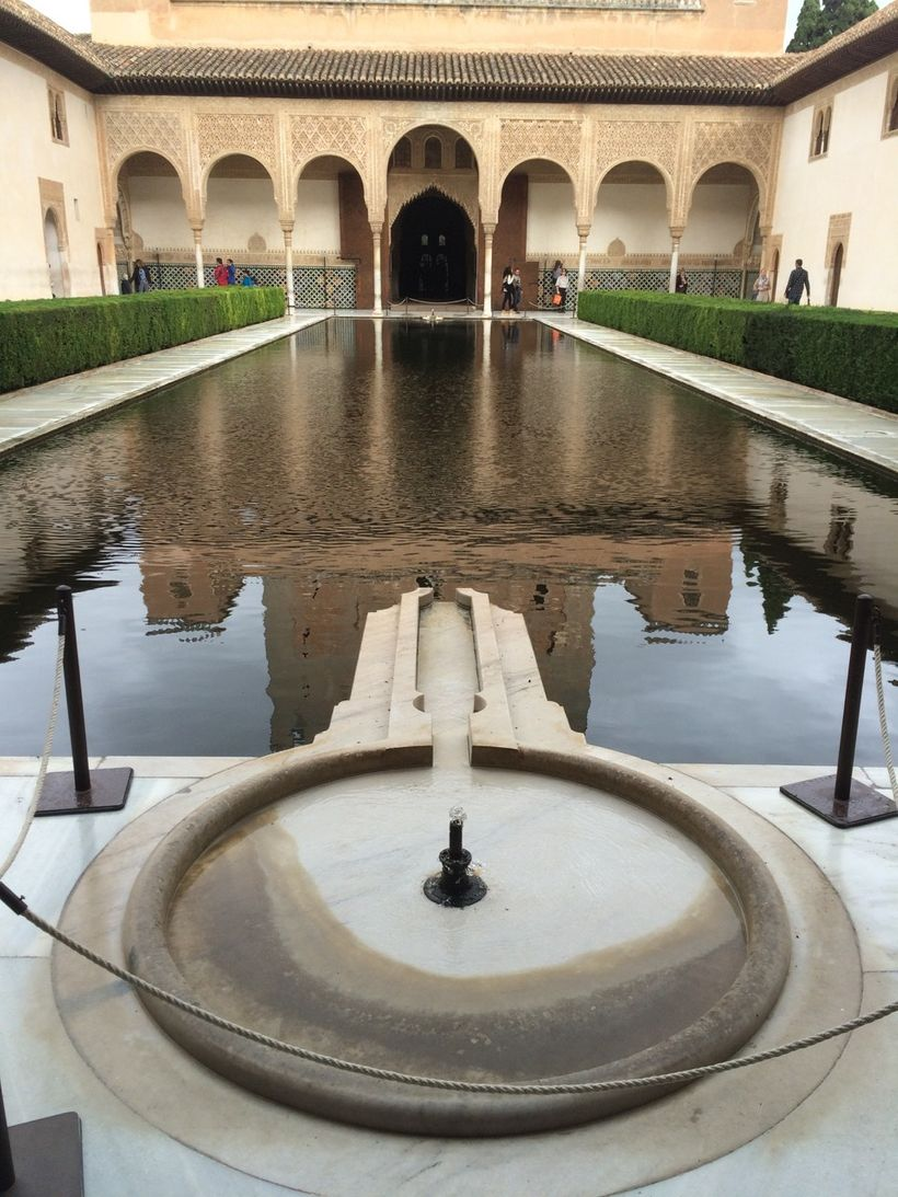 A key-shaped fountain in Alhambra, symbolizing the entrance key to paradise
