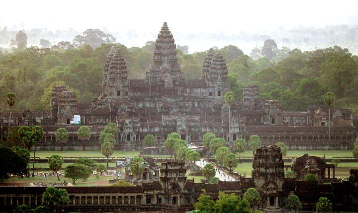 Researchers say they have discovered ancient cities buried around the ruins of Angkor Wat, a massive temple complex located i