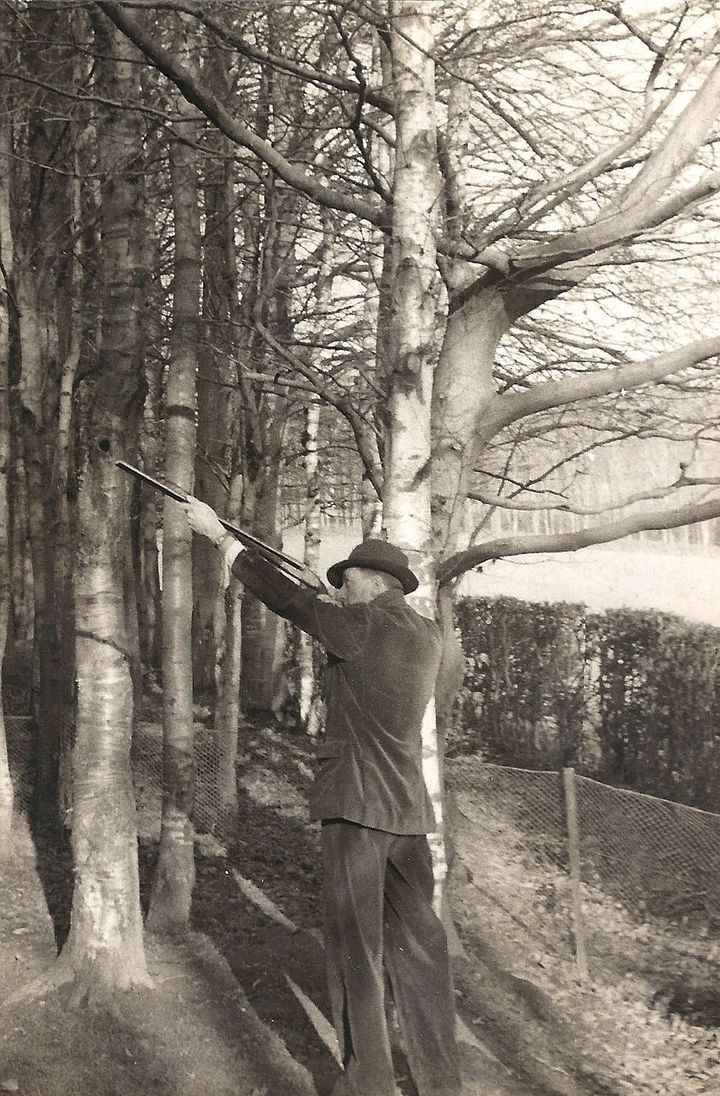 My father, hunting during World War II