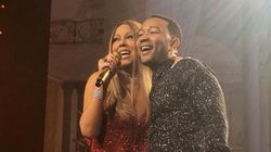 Watch Mariah Carey Tease A Blindfolded John Legend Onstage In