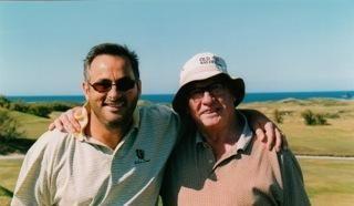 David Feherty with his fatherBilly Feherty
