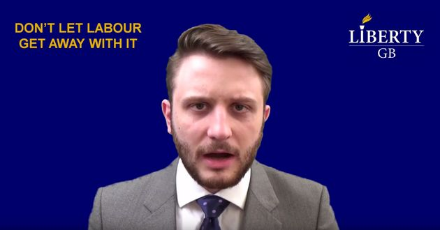 Buckby produced a video in which he said he was fighting the electionto prevent Labour from 'walking'