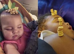 Celebrate This Father's Day By Stacking Cheerios On Your Sleeping Kids