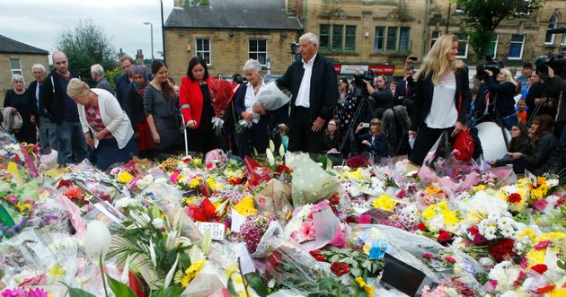 Gordon and Jean Leadbeater (centre), the parents of Labour MP Jo Cox, her sister sister Kim Leadbeater...