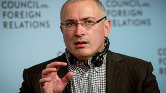"Former Russian tycoon Mikhail Khodorkovsky speaks about his ""Open Russia"" movement at the  Council on Foreign Relations in New York October 6, 2014. REUTERS/Brendan McDermid (UNITED STATES - Tags: BUSINESS POLITICS HEADSHOT)"