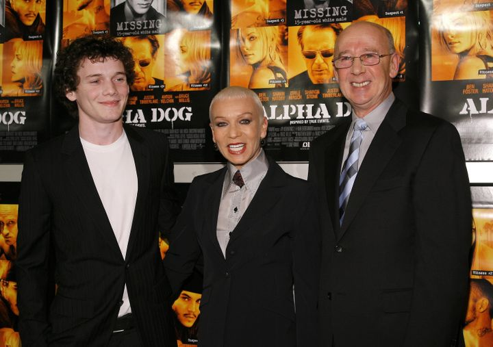"Anton Yelchin with his parents, Irina and Viktor Yelchin, at the Hollywood premiere of ""Alpha Dog"" in 2007."