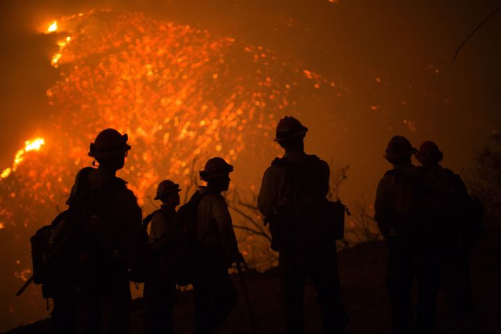The Sherpa Fire, burning in the canyons and foothills near Santa Barbara, has charred nearly 7,900 acres and forced hund