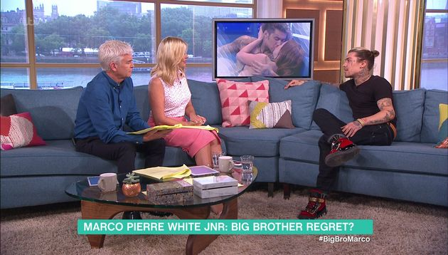 Marco made an appearance on 'This Morning' on