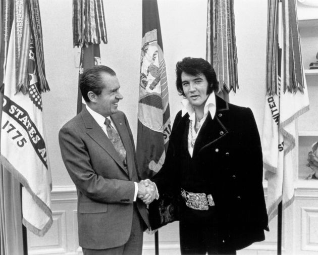 The photographic souvenir of Richard Nixon's meeting with Elvis Presley remains the most requested slice...