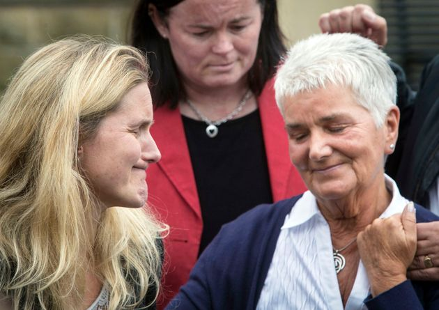 Jean Leadbeater, Jo Cox's mother, with her daughter