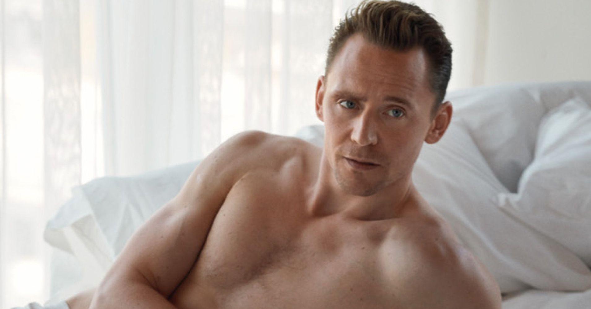 Tom Hiddleston strips off to his underwear in W Magazine