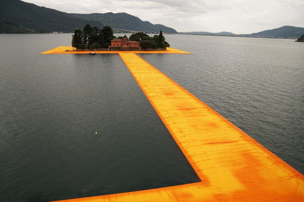 The Floating Piers, Lake Iseo, Italy, 2014-16.