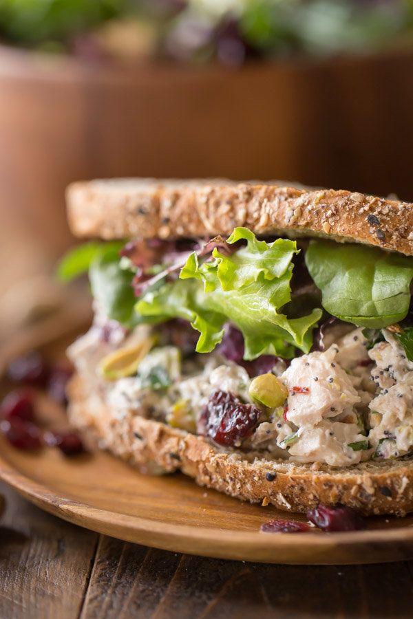 """<strong>Get the <a href=""""http://lovelylittlekitchen.com/cranberry-pistachio-chicken-salad-sandwich/"""" target=""""_blank"""">Cranberr"""