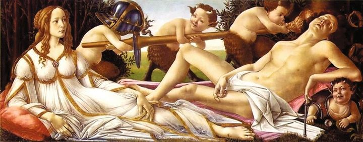 FIGURE 1-2. Sandro Botticelli, Mars and Venus, ca. 1483. National Gallery of London.