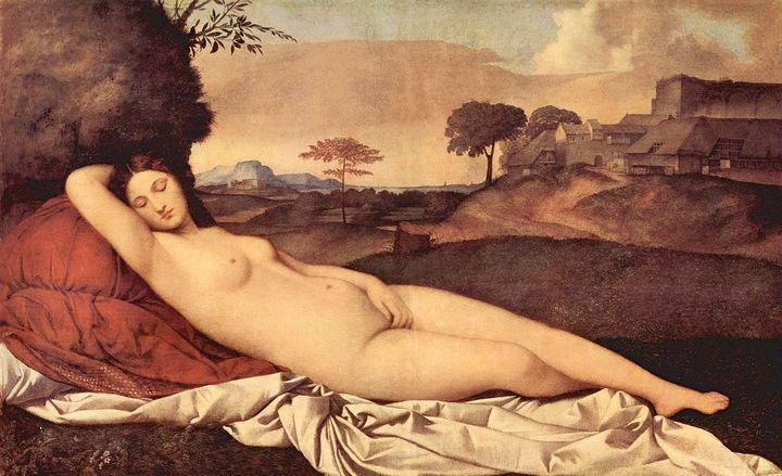 FIGURE 1-4. Giorgione, Sleeping Venus, ca. 1508. Gemäldegalerie Alte Meister, Dresden, Germany.
