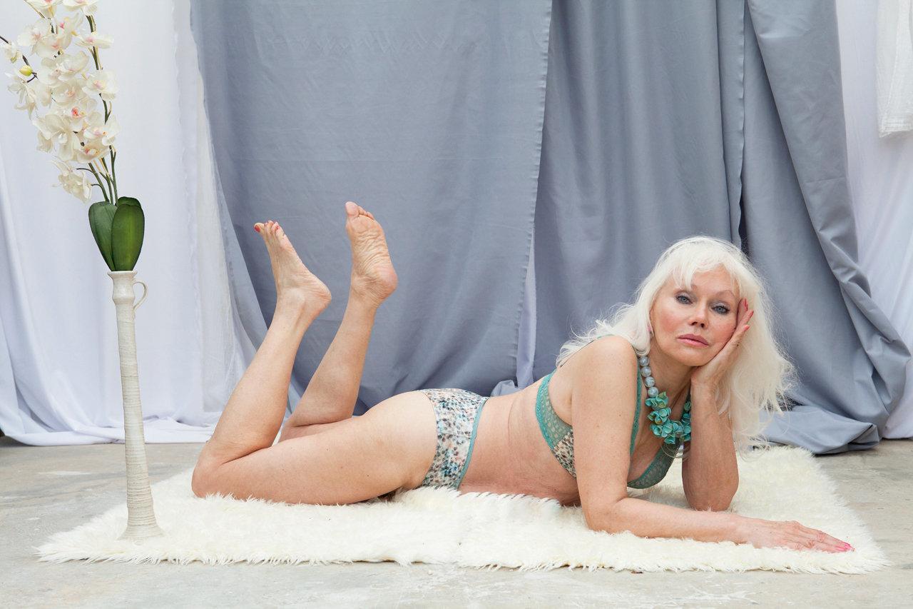 sensuous older woman