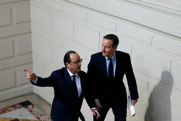 French President Francois Hollande and Britain's Prime Minister David