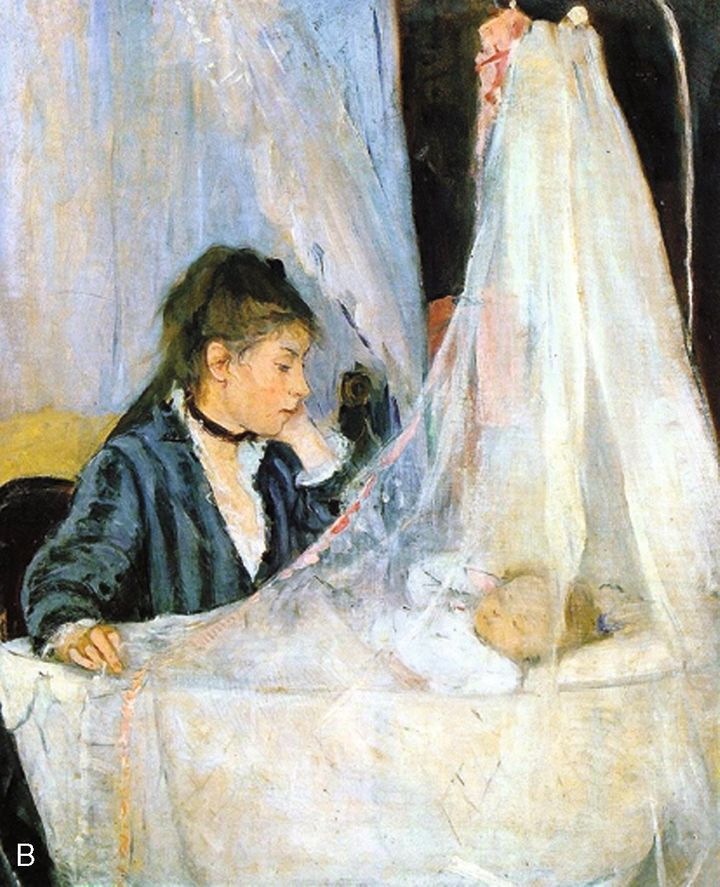 FIGURE 1-12. Berthe Morisot, Le Berceau (The Cradle), 1872. Musee d'€™Orsay, Paris.