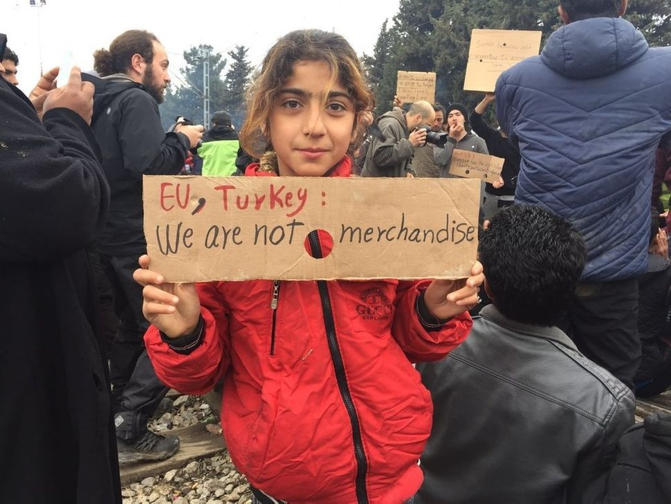 After the new European Union-Turkey deal, borders shut permanently for Syrian and Iraqi refugees as well. A Syrian girl in Id