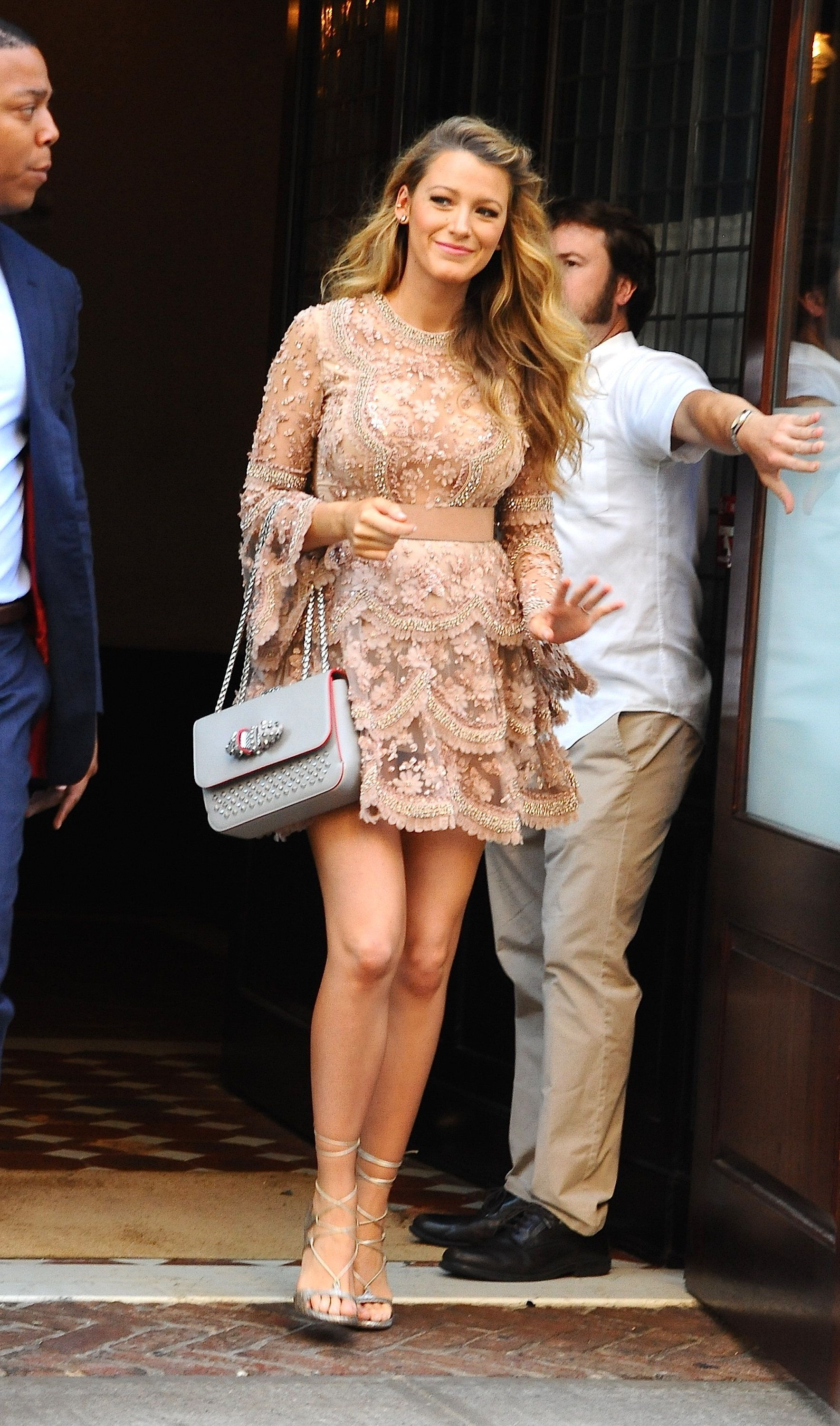 NEW YORK, NY - JUNE 20:  Actress Blake Lively is seen walking in Soho on June 20, 2016 in New York City.  (Photo by Raymond Hall/GC Images)