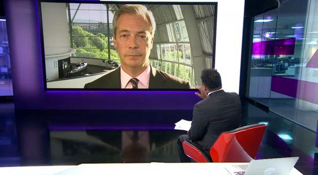 Krishnan Guru-Murthy told Nigel Farage that he helped drag British politics 'into the gutter' during...