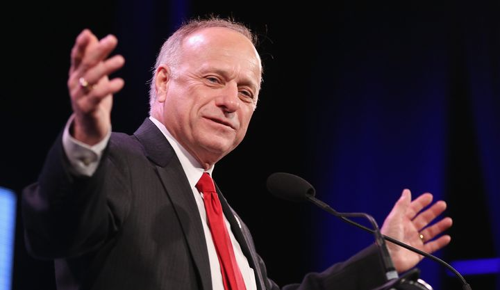 Rep. Steve King apparently likes all those white men on the money.