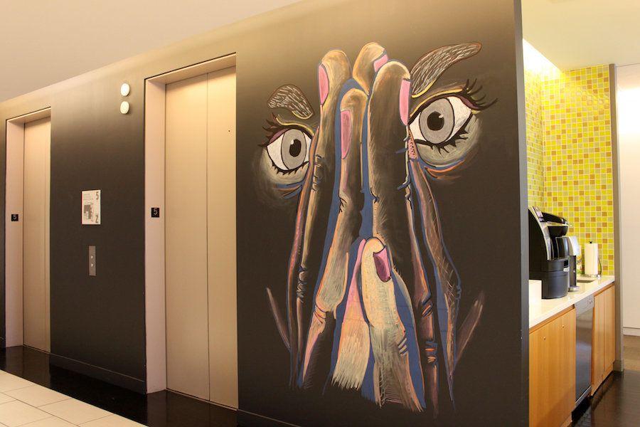 IAC Mural by Anaya, Ashley, Ebony, Shyheim and Tashawn
