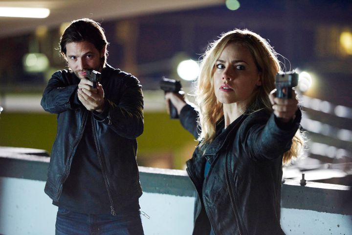 """Aaron Stanford as James Cole and Amanda Schull as Cassandra Railly in """"12 Monkeys."""""""