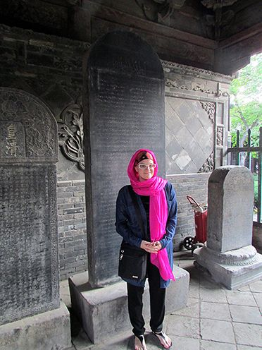 Exploring Arabic, Persian, and Chinese stelae in the mosque