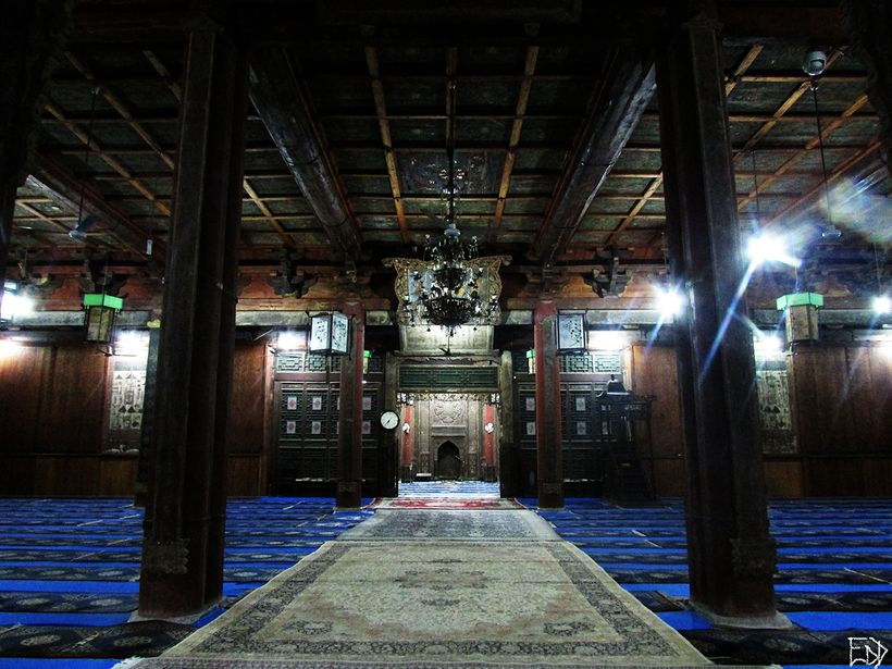 Inside the Prayer Hall of the Great Mosque of Xi'an