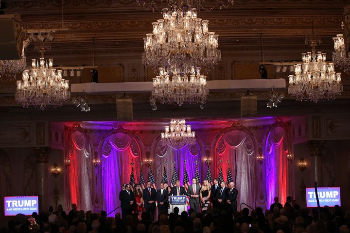 Trump hosted a press conference on March 15 at his Mar-A-Lago mansion. His campaign later paid the house and club more than $