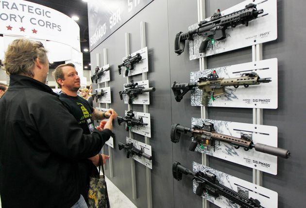NRA gun enthusiasts view Sig Sauer