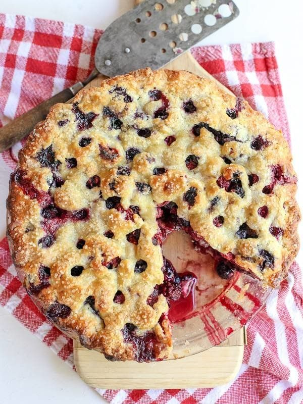 "<strong>Get the <a href=""http://www.foodiecrush.com/2014/07/four-berry-pie-recipe/"" target=""_blank"">Four Berry Pie recipe</a>"