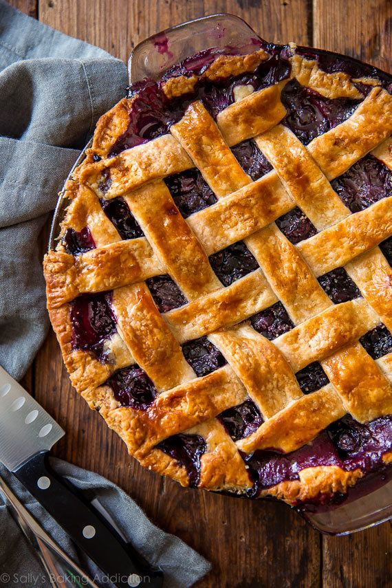 "<strong>Get the <a href=""http://sallysbakingaddiction.com/2016/06/17/best-blueberry-pie/"" target=""_blank"">Classic Blueberry P"