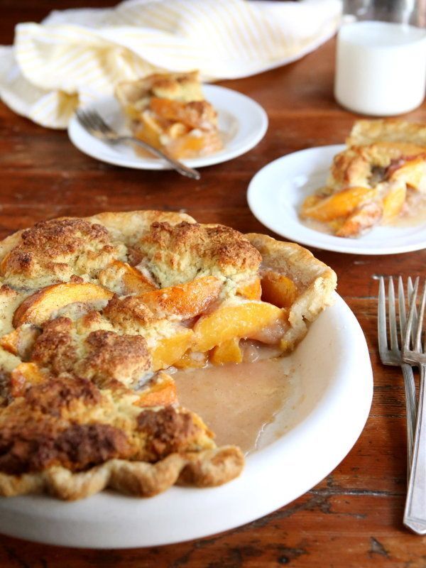 "<strong>Get the <a href=""http://www.completelydelicious.com/2014/08/peach-cobbler-pie.html"" target=""_blank"">Peach Cobbler Pie"