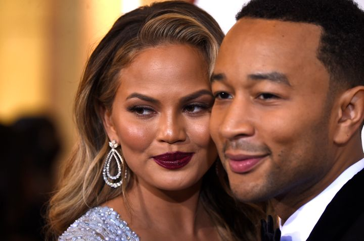 Teigen and Legend arrive at theAnnual Academy Awards in 2015.