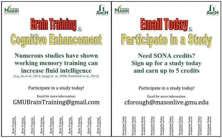 Two different flyers used to recruit study participants.