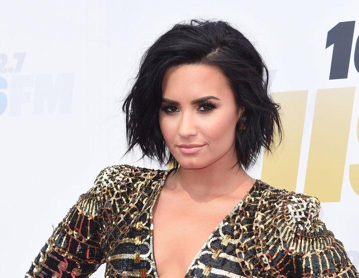 Singer Demi Lovato on May 14, 2016, in Carson, California.