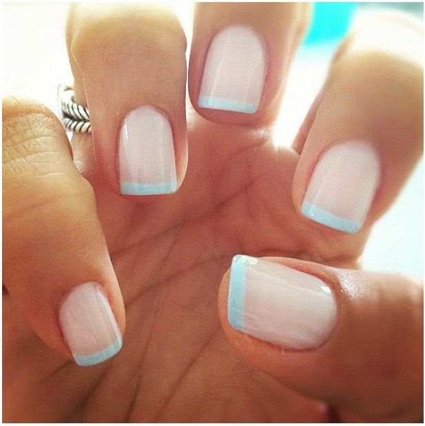 Classic French Manicure For Wedding Houston Hospitality