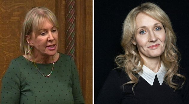 NadineDorries (left) and JK Rowling