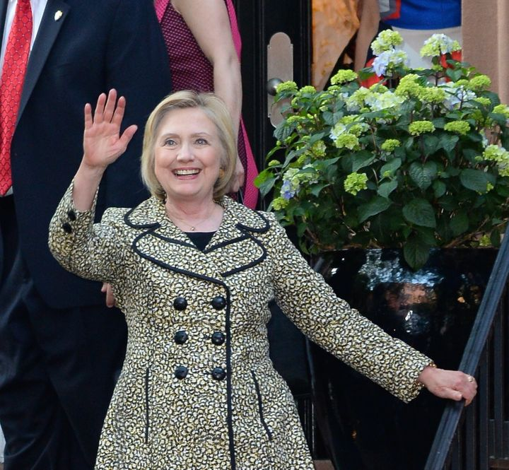 Hillary Clinton attends a Hillary Victory Fund fundraiser at the residence of Harvey Weinstein on June 20, 2016 in New York C