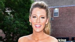 Pregnant Blake Lively Is A Babe In This Royal Blue Bodycon