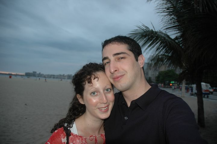Rosie and Elliot after getting married in 2004.