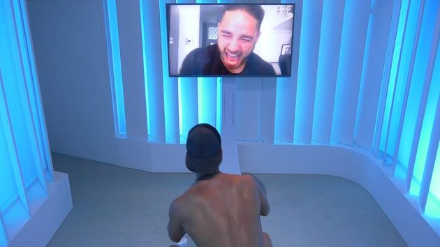Scott takes a video call from his brother