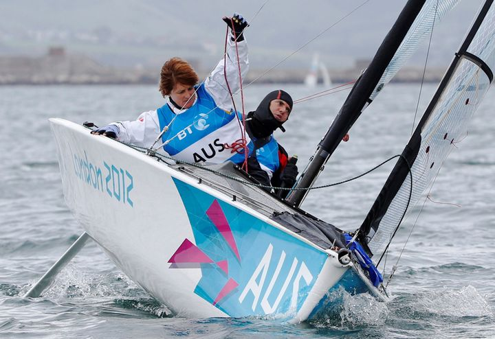 Paralympic sailor Liesl Tesch, left, was recently robbed at gunpoint in Rio de Janeiro along with physiotherapist Sarah Ross.