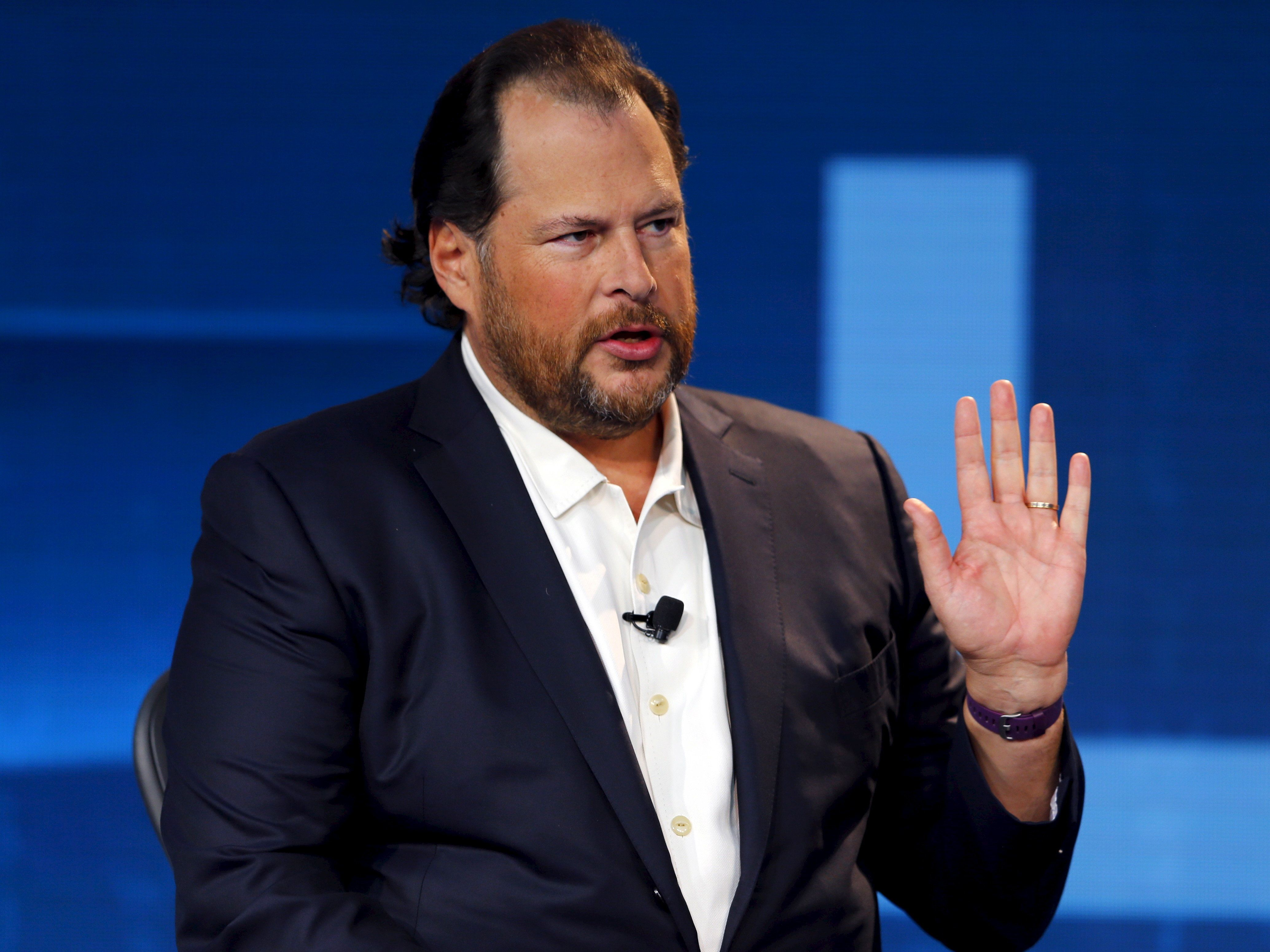 Salesforce chairman and CEO Marc Benioff has made a name for himself as an activist CEO, but has been silent on Donald Trump'
