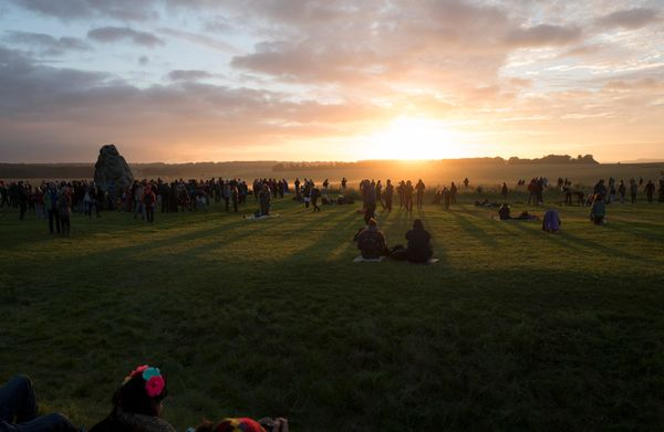 Revellers celebrate the summer solstice at Stonehenge on Salisbury Plain in southern England, Britain June 21, 2016.