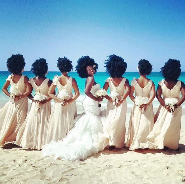 """All of my bridesmaids have natural hair as well. No one was against it at all."""