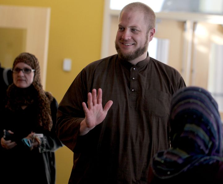 Iman William Suhaib Webb at the Islamic Society of Boston Cultural Center in Roxbury in 2012.