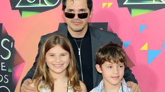 LOS ANGELES, CA - MARCH 27:  Actor John Leguizamo and his children Allegra Sky and Ryder Lee arrive at Nickelodeon's 23rd Annual Kid's Choice Awards held at UCLA's Pauley Pavilion on March 27, 2010 in Los Angeles, California.  (Photo by Michael Buckner/Getty Images)